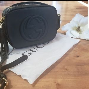Black GG crossbody bag